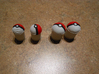pokeball plugs 2 pairs, sizes 0 and 00, no color 3d printed