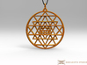 2.5D Sri-Yantra 4.5cm (Raw Metals) 3d printed Pendant cord not included