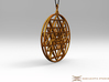 2.5D Sri-Yantra  6.3cm (All Metals) 3d printed Pendant cord not included