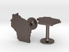 Cufflinks - Choose Any State (Wisconsin) 3d printed