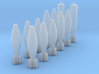M2 Mortar 60mm Shell Set (1/18 Scale) -PASSED- 3d printed