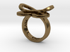AMOUR in polished bronze  3d printed