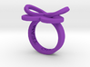 AMOUR in purple polished plastic 3d printed