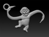 Monkey Pendant 3d printed barrel of monkeys made in zbrush