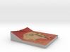 Mars Map: Depression At Base, Red 3d printed