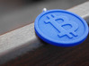 Coin Size bitcoin (w/loop) 3d printed