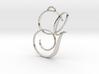 Elegant Script Monogram G Pendant Charm 3d printed