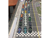 Miniature F1 (42pcs) - Hole variant 3d printed Hand-painted cars. Board copyright GMT games. Pic courtesy Drury67 (on BGG).