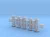 Dachlüfter 20erSet Typ 1, 2, 3 und 4  modern 1:120 3d printed