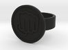 Fisted Hand Ring 3d printed