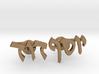 "Hebrew Name Cufflinks - ""Yosef David"" 3d printed"