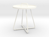 Round occasional table, 1:12 - smaller version 3d printed