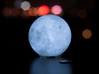 Moon lamp 3d printed With LED tea light