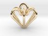Elegant Heart Pendant  3d printed