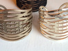 Crisscross Cuff 3d printed Stainless Steel & Silver