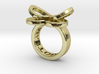 AMOUR petite in 18k gold 3d printed