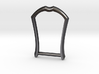 """1"""" Long Buckle Frame, Accented - STEEL 3d printed"""