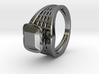 Square Gem Twin Ring 3d printed Square Gem Twin Ring