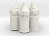 garbage cans with clown head 3d printed