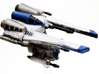 Toth Starfighter: 1/270 scale 3d printed Toth Starfighter in FUD
