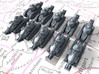 1/700 French Renault FT Light Tank x10 3d printed 1/700 French Renault FT Light Tank x10