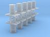 200 Liter Faß auf Europalette 10er Set - 1:120 3d printed