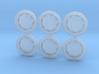 3D Wheel inserts - Mercedes 300 SL - 12,8mm 3d printed