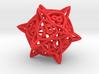 'Center Arc' dice, D20 balanced gaming die, LARGE 3d printed