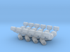 Squad 51 rail supports 3d printed