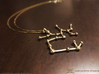 Sagittarius Zodiac Constellation Pendant 3d printed Polished Brass example (Chain not included)