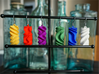 Sinusoidal Rotini Earrings 3d printed Rotini Earrings in various colors