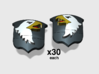 60x Screaming Eagles: Shoulder Insignia pack 3d printed