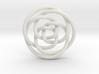 Rose knot 3/5 (Circle) 3d printed