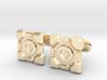 Portal Companion Cube Cufflinks 3d printed