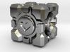 Portal Companion Cube Bead (for charm bracelets) 3d printed
