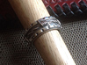 Barbed Wire Ring - Size 91/2  (19.35 mm) 3d printed Shown with Liver of Sulfur Patina