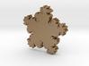 Amulet in Plam - Matte Gold Steel 3d printed