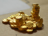 "Pile of Shanix (1"" diameter) 3d printed Polished gold steel pile of shanix"