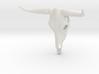 White Longhorn Skull 3d printed