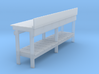 HO scale workbench no drawers  3d printed