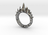 Abstract - Ring 10 - Spiked  3d printed
