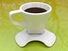 'Dark coffee' cup 3d printed 'Dark Coffe' cup paired with its dedicated saucer