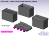 1/35+ M2A1 cal.50 Ammo Box Early type (18 set) 3d printed