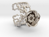 Half open flower ring (US sizes 10 – 13) 3d printed
