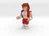 Double Dragon Jimmy Lee - full color minifigure.  3d printed
