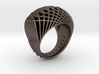 ring-dubbelbol-metaal / double concave metal 3d printed