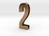 Choker Slide Letters (4cm) - Number 2 3d printed