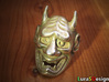 Hannya Oni Mask Ring 3d printed Stainless steel