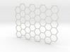 Texture stamp: Hex 3d printed