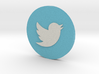 Twitter Logo on Circle 3d printed